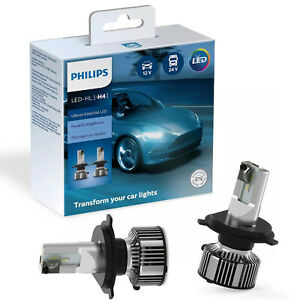 Lampadine Led H4 Philips Ultinon 6500K 12V 24V 11342UE2X2