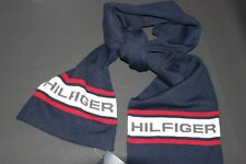 Tommy Hilfiger Mens Blue Wool Blend Winter Scarf One Size