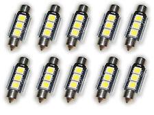 10x DEL Soffitte 36 mm 3 5050 SMD c5w BLANC 6000k éclairage intérieur l63