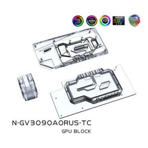 Dual Side GPU Block for Giga RTX 3090 3080 AORUS N-GV3090AORUS-TC FAST SHIP