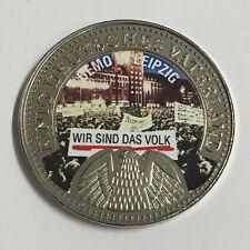 SO5-8) Nickelmedaille Einig Deutsches Vaterland, Demo in Leipzig