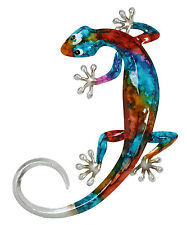 Gecko Metal Wall Art Lizard Sculpture  Ornament  Garden 32cm