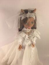 Monster High Wearing Vintage Wedding Dress