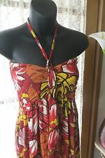 VINTAGE Style ~ JEANS WEST ~ Vivid Print Sun DRESS * Size S * REDUCED !! *