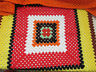 Vintage Handmade Crochet Granny Blanket Afghan Lap Throw Multi Color Square