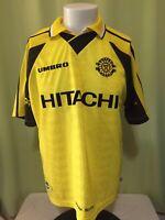 Kashiwa Reysol Men's Yellow Black Futbol Soccer Jersey Size XL 78/10 Umbro