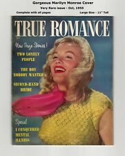 VERY RARE 1955 TRUE ROMANCE - BEAUTIFUL MARILYN MONROE COVER! - COMPLETE