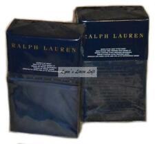 RALPH LAUREN Bedford Jacquard Highland Navy Blue QUEEN FITTED & FLAT SHEET $460