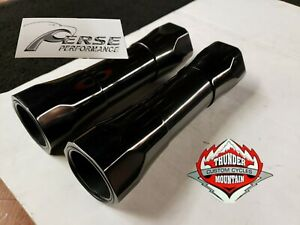 THUNDER MOUNTAIN CUSTOM  CYCLE / PERSE PERF Slim Hexed Sleeves Black Anodized