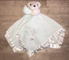 God Smiled The Day You Were Born Lovey Plush Blanket Cross Teddy Bear Mint Green