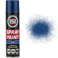 9 x 250ml 151 Blue Gloss Aerosol Paint Spray Cars Wood Metal Walls Graffiti