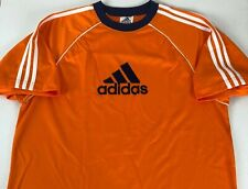 Adidas Vintage 90s Usa Made Soccer Jersey Shirt Sz L Orange Navy Script Logo