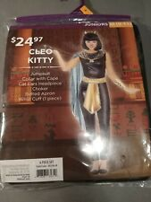 Cleo Kitty Jumpsuit with Cape Halloween Costume Size M 9-11 Juniors
