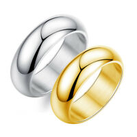 Silver/Gold Tone Men's Stainless Steel Ring Engagement Ring Wedding Band SJ334