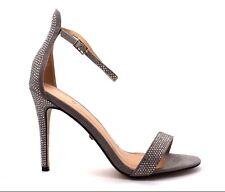 Marquiiz Womens UK 6 Grey Diamante Embellished High Heel Stiletto Sandals Shoes