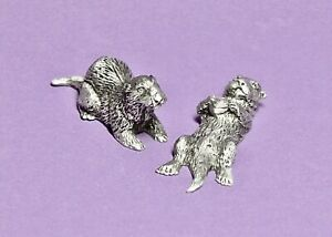 Hudson Pewter Noah's Ark Collection male & female OTTERs retired BONUS