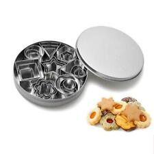 24pcs Stainless Steel Mini Cookie Cutter Set Baking Pastry Cutters Slicers SE#N