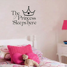 1x Removable Princess Sleep Wall Stickers Art Vinyl Decals Baby Girls Room Decor