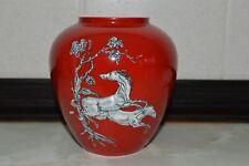 Small Crown Devon red Pegasus vase