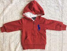 New Boys Ralph Lauren Cotton Fleece Hoodie 6X/6-7 Years