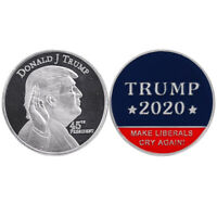 Donald Trump 45th President Silver Coin US. 2020 Make Liberals Cry Again 1PCS RF