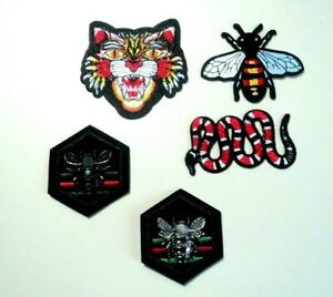 1x Fashion Logo Angry Cat Patches Embroidered Cloth Badge Applique Iron Sew On