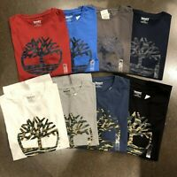 NWT Timberland Men's Short Sleeve Camouflaged Tree Logo Cotton T-Shirt A1N4A NEW