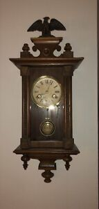 Junghans wall clock small old antique