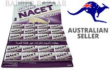 Gillette Nacet Stainless Double Edge Razor Blades   AUS SELLER