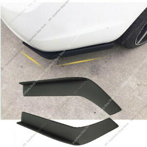 Black Universal Fit Rear Bumper Lip Splitters Winglets Refit PP 26 Inch 2x Kit c