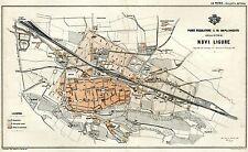 Pianta di Novi Ligure: Piano Regolatore 1889.Cromolitografia + Passepartout.1890