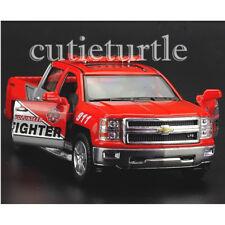 Kinsmart 2014 Chevrolet Silverado Pick Up Truck 1:46 KT5381DPR Firefighter Red