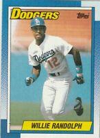 FREE SHIPPING-MINT-1990 Topps #25 Willie Randolph Dodgers PLUS BONUS CARDS