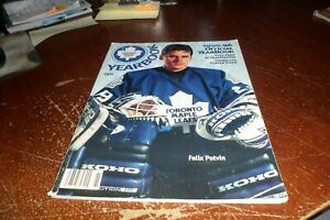 toronto maple leafs hockey club yearbook official 1995-1996 felix potvin rare