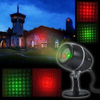 Garden IP65 Waterproof  Outdoor R&G Xmas Laser Projector Landscape  Stage Light