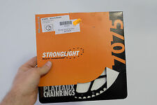 vintage rennrad kettenblatt Stronglight 7075 Chainring 110LK 52 Zähne black race