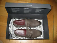 Marc O'Polo Damen Schnür Halb Schuh 37,5 grau Leder neu ungetragen im Karton