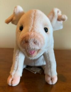 NEW HANSA Pig Soft Pink Plush Baby Piglet Stuffed Animal Toy Oliver 3380 NWT