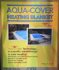 PolyAir Aquacover Heating Blanket Cover with Thermotex for 12' Above Ground Pool
