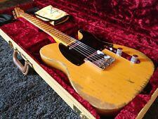 2015 Fender Custom Shop 52 Telecaster Heavy Relic Butterscotch Blonde Tweet Case