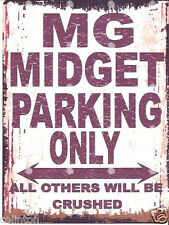 MG MIDGET PARKING SIGN RETRO VINTAGE STYLE 6x8in 20x15cm garage workshop art