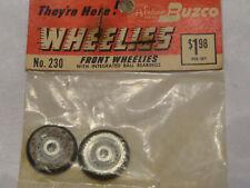 Vintage Buzco Wheelies Slot Car Front Wheels w/ Ball Bearings #230