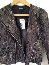 Atelier 61 Biker Jacket Snakeskin Print Size 8 New With Tag