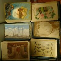 LOT OF 50 VINTAGE POSTCARDS ~ PREMIUM LOT~USA & FOREIGN ~1900s and up . FAST📫