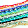 Wholesale 3mm/4mm/6mm Bicone Faceted 5301# Crystal Glass Loose Spacer Beads DIY