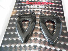 Triumph Speed Triple 08 10 Heel Plates Pair - Gloss Carbon Fiber Powerbronze