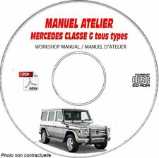 CLASSE G - Manuel Atelier CDROM MERCEDES FR Expédition - 3 euros, Support - CD-