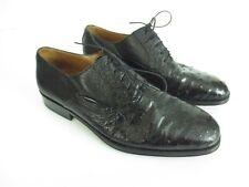GRAVATI per DAVIDS Black Dress Shoes Hand Made in Spain Sz US 9 EUR 42 [A92]