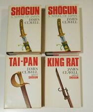 James Clavell Vintage Book Lot HC / DJ Shogun Volume 1 & 2 King Rat Tai-Pan