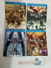 Attack on Titan: Complete First Season 1 + 2 + 3 part 1 & 2 Blu-Ray Lot * New *